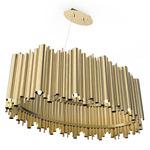 Brubeck Oval Pendant - Gold