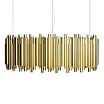 Brubeck Rectangle Pendant - Gold
