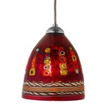 Elan 79 FJ Mini Pendant - Dark Bronze / Dolphin Red