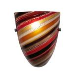 Elan Wall Sconce - Satin Nickel / Spirale Orange