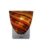 Elan Quadro Wall Sconce - Satin Nickel / Spirale Orange
