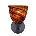 Elan Rondo Wall Sconce - Dark Bronze / Spirale Orange