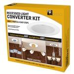 Recessed Light Converter Kit  - Gloss White