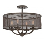 Nouvel Ceiling Semi Flush Mount - Galaxy Bronze /