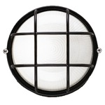 Oceanview Outdoor Wall Sconce - Black / Etched White