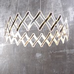 Zoom Pendant - Satin Nickel / Translucent Foil / Steel