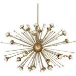 Sputnik Chandelier - Antique Brass / Crystal