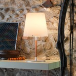 2198 Table Lamp - Aluminum / White