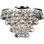 Bling Ceiling Light Fixture - Polished Nickel / Crystal