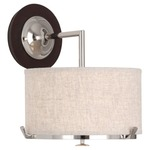 Edwin Wall Light - Bisque Linen/ Polished Nickel /
