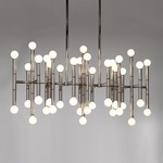 Meurice Rectangular Chandelier - Polished Nickel