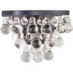 Bling Wall Light - Deep Patina Bronze / Crystal