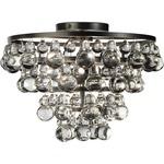 Bling Ceiling Light Fixture - Deep Patina Bronze / Crystal