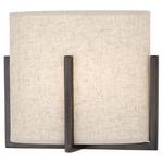 Colonnade Plug-in Wall Sconce - Heather Linen/ Deep Patina Bronze /