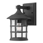 Freeport Outdoor Wall Light - Black / Clear Seedy /
