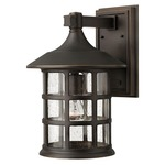 Freeport Outdoor Wall Light - Oil Rubbed Bronze / Clear Seedy /