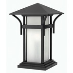 Harbor Pier Flush Mount - Satin Black / Etched Seedy