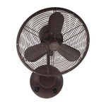 Bellows I Wall Mount Fan - Aged Bronze