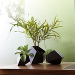 Boulders Table Planter - Rust
