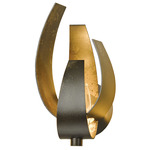 Corona Large Wall Sconce - Dark Smoke / Clear and Frosted