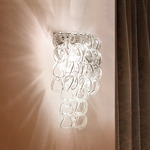Giogali AP Wall Sconce - Chrome / Transparent