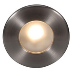 120V LEDme Round Outdoor Step Light - Brushed Nickel