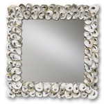 Oyster Shell Wall Mirror - Oyster Shell / Mirror