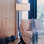Stasis Floor Lamp - Bronze / Natural Anna