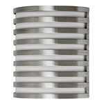 Bilbao Outdoor Wall Sconce - Satin Aluminum / White