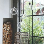 Bubble Lamp Pendant or Wall - Copper / Clear