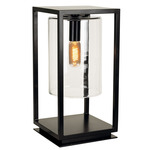 Dome Outdoor Hardwired Gate Light - Black / Clear