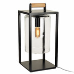 Dome Portable Table Lamp - Black / Clear