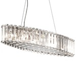 Crystal Skye Oval Chandelier