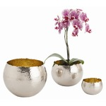 Alessandria Container Set - Polished Nickel / Brass