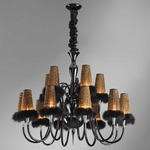 Honey Plums 2-Tier Chandelier