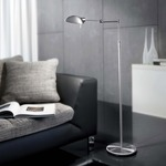 2508 Classic Floor Lamp - Satin Nickel /