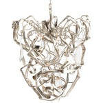 Delphinium Conical Chandelier - Nickel
