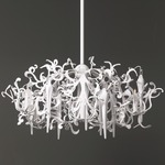 Flower Power Hanging Lamp Round - White /