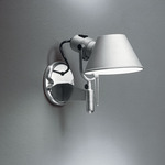 Tolomeo Classic Wall Spot with Switch - Aluminum /