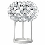 Caboche Piccola Table Lamp - White Lacquered Metal / Transparent