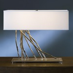 Brindille Table Lamp - Burnished Steel / Natural Anna