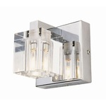 Crystal Cube Vanity Light - Polished Chrome / Crystal