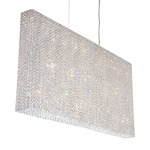 Refrax Linear Pendant - Stainless Steel / Spectra Crystal