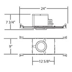 GUI325 3.25IN MR16 GU10 120V IC New Construction Housing -  /