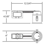 GU325 3.25 Inch MR16 GU10 120V Retrofit Remodel Housing -  /