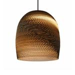 Bell Scraplight Pendant - Black / Natural