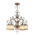 La Bella 5 Light Downlight Chandelier