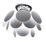 Discoco Ceiling Flush Mount - Chrome / Grey