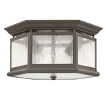 Edgewater Outdoor Ceiling Light Fixture - Oil Rubbed Bronze / Clear Seedy