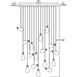 Bright Idea 17 Light Linear Suspension -  /